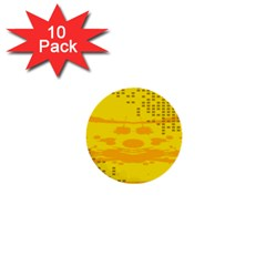 Texture Yellow Abstract Background 1  Mini Buttons (10 pack)