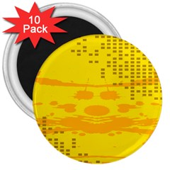 Texture Yellow Abstract Background 3  Magnets (10 Pack)