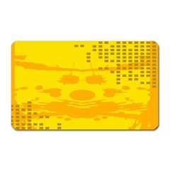 Texture Yellow Abstract Background Magnet (rectangular)