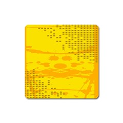 Texture Yellow Abstract Background Square Magnet