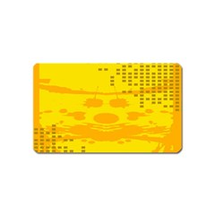 Texture Yellow Abstract Background Magnet (name Card)
