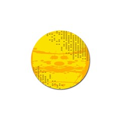 Texture Yellow Abstract Background Golf Ball Marker (10 Pack)