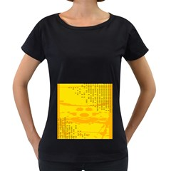 Texture Yellow Abstract Background Women s Loose Fit T Shirt (black)