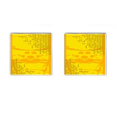 Texture Yellow Abstract Background Cufflinks (Square)