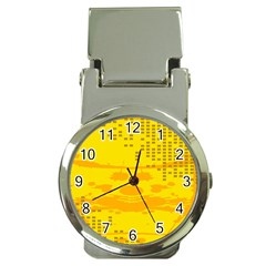 Texture Yellow Abstract Background Money Clip Watches
