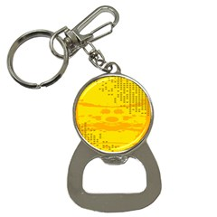 Texture Yellow Abstract Background Button Necklaces