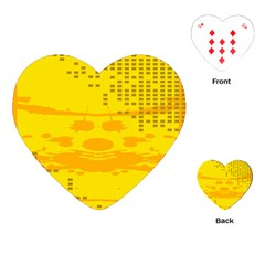 Texture Yellow Abstract Background Playing Cards (heart)
