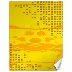 Texture Yellow Abstract Background Canvas 12  x 16