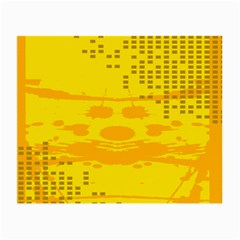 Texture Yellow Abstract Background Small Glasses Cloth (2-Side)