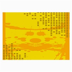 Texture Yellow Abstract Background Large Glasses Cloth (2-Side)
