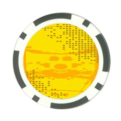 Texture Yellow Abstract Background Poker Chip Card Guard