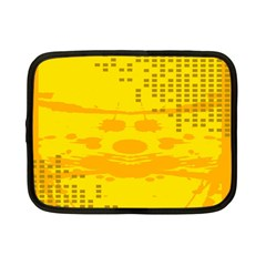 Texture Yellow Abstract Background Netbook Case (Small)