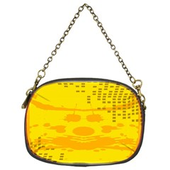 Texture Yellow Abstract Background Chain Purses (One Side)