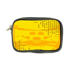 Texture Yellow Abstract Background Coin Purse