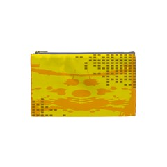 Texture Yellow Abstract Background Cosmetic Bag (Small)