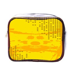 Texture Yellow Abstract Background Mini Toiletries Bags