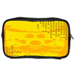 Texture Yellow Abstract Background Toiletries Bags 2-Side