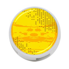 Texture Yellow Abstract Background 4-Port USB Hub (Two Sides)