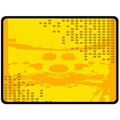 Texture Yellow Abstract Background Fleece Blanket (large)