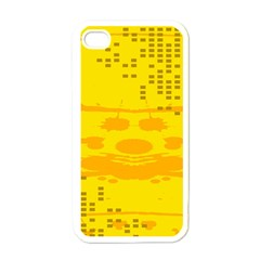Texture Yellow Abstract Background Apple Iphone 4 Case (white)