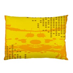 Texture Yellow Abstract Background Pillow Case (Two Sides)