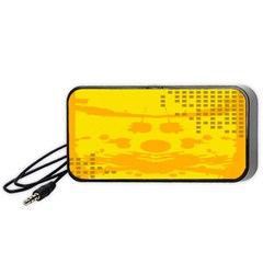 Texture Yellow Abstract Background Portable Speaker (Black)