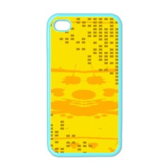 Texture Yellow Abstract Background Apple Iphone 4 Case (color)