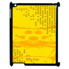 Texture Yellow Abstract Background Apple iPad 2 Case (Black)
