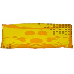Texture Yellow Abstract Background Body Pillow Case Dakimakura (Two Sides)
