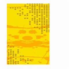 Texture Yellow Abstract Background Large Garden Flag (Two Sides)