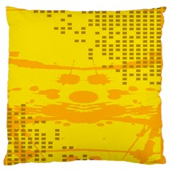 Texture Yellow Abstract Background Large Cushion Case (One Side)
