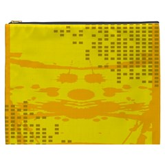 Texture Yellow Abstract Background Cosmetic Bag (xxxl)