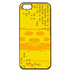Texture Yellow Abstract Background Apple iPhone 5 Seamless Case (Black)