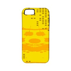 Texture Yellow Abstract Background Apple Iphone 5 Classic Hardshell Case (pc+silicone)