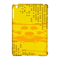 Texture Yellow Abstract Background Apple Ipad Mini Hardshell Case (compatible With Smart Cover)