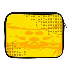 Texture Yellow Abstract Background Apple iPad 2/3/4 Zipper Cases