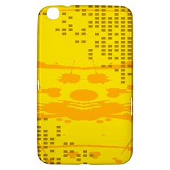 Texture Yellow Abstract Background Samsung Galaxy Tab 3 (8 ) T3100 Hardshell Case