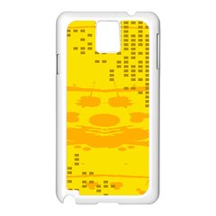 Texture Yellow Abstract Background Samsung Galaxy Note 3 N9005 Case (White)
