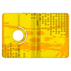 Texture Yellow Abstract Background Kindle Fire Hdx Flip 360 Case