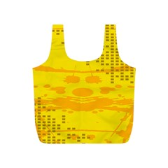 Texture Yellow Abstract Background Full Print Recycle Bags (s)