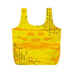 Texture Yellow Abstract Background Full Print Recycle Bags (m)