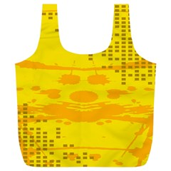 Texture Yellow Abstract Background Full Print Recycle Bags (l)