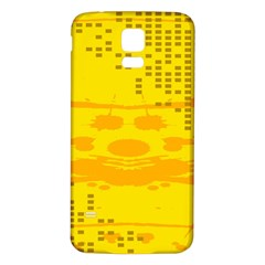Texture Yellow Abstract Background Samsung Galaxy S5 Back Case (White)