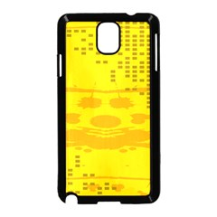 Texture Yellow Abstract Background Samsung Galaxy Note 3 Neo Hardshell Case (black)