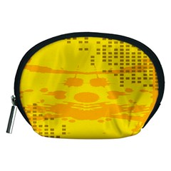 Texture Yellow Abstract Background Accessory Pouches (medium)