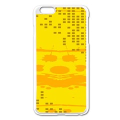 Texture Yellow Abstract Background Apple Iphone 6 Plus/6s Plus Enamel White Case