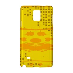 Texture Yellow Abstract Background Samsung Galaxy Note 4 Hardshell Case