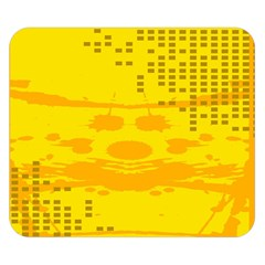 Texture Yellow Abstract Background Double Sided Flano Blanket (small)