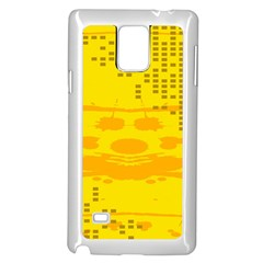 Texture Yellow Abstract Background Samsung Galaxy Note 4 Case (White)