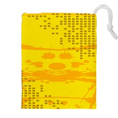 Texture Yellow Abstract Background Drawstring Pouches (XXL)